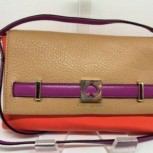 KATE SPADE | Tan & Red Leather Loula Houston Bag
